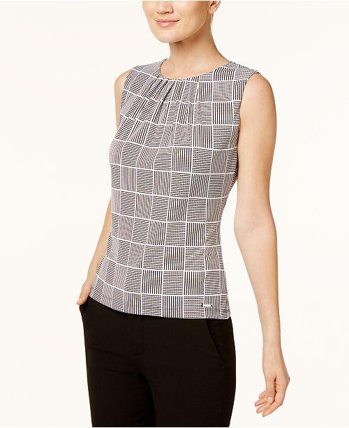 ace4c214596df1 Calvin Klein Sleeveless Pleated Top; Calvin Klein Sleeveless Pleated Top ...