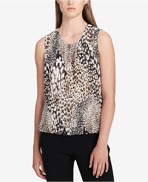 Calvin Klein Animal-Print Top