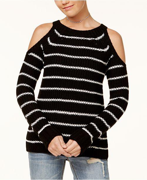 Hippie Rose Juniors' Cold-Shoulder Sweater & Reviews