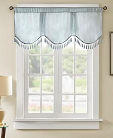 "Evelyn 50"" x 21"" Faux-Silk Scallop Window Valance"