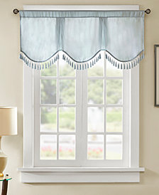 "Madison Park Evelyn 50"" x 21"" Faux-Silk Scallop Window Valance"