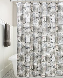 "Cityscapes Paris Graphic-Print 72"" x 72"" Shower Curtain"