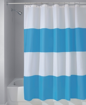 Interdesign Zeno Stripe 72 x 84 Shower Curtain Bedding