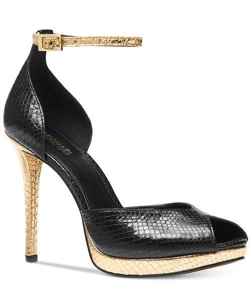 MICHAEL 7uOC8o91mZ TIEGAN - High heels - black oYEVJ9W