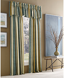 "J Queen New York Valdosta Cotton Stripe 50"" x 84"" Rod Pocket Curtain Panel"