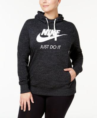 Plus Size Gym Vintage Hoodie