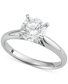 Solitaire Engagement Ring (1-1/2 ct. t.w.) in 14k White Gold, SI2 Clarity