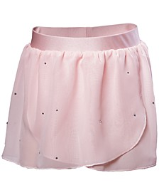 Embellished Georgette Wrap Skirt, Little Girls & Big Girls