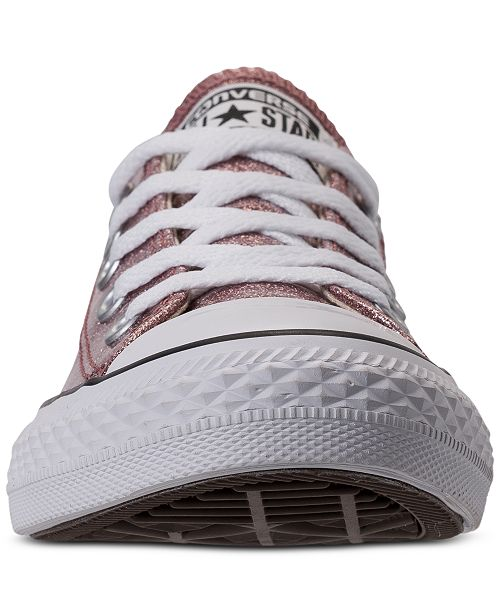cc344227d8d ... Converse Little Girls' Chuck Taylor All Star Ox Glitter Casual Sneakers  from Finish ...