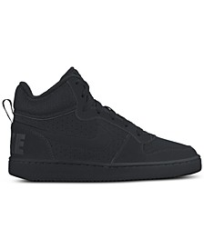 Boys' Court Borough Mid Premium Casual Sneakers from Finish Line