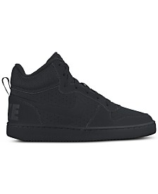 Nike Boys' Court Borough Mid Premium Casual Sneakers from Finish Line