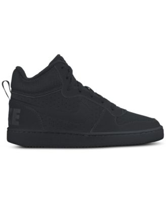 nike boys court borough mid premium casual sneakers from finish rh macys com
