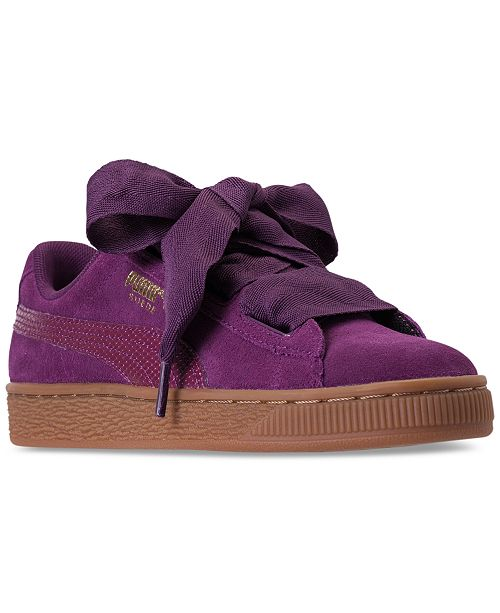 2c54bc94188 ... Puma Big Girls  Suede Heart SNK Casual Sneakers from Finish Line ...