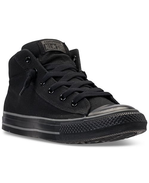 abaea418c038 ... Converse Men s Chuck Taylor All Star Street Mid Casual Sneakers From  Finish ...