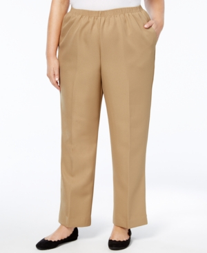 Macy's Canada,Alfred Dunner Plus Size Classic Pull-On Straight-Leg Pants