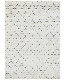 Couristan Enclave Shag Davos Snow-Brown Area Rug
