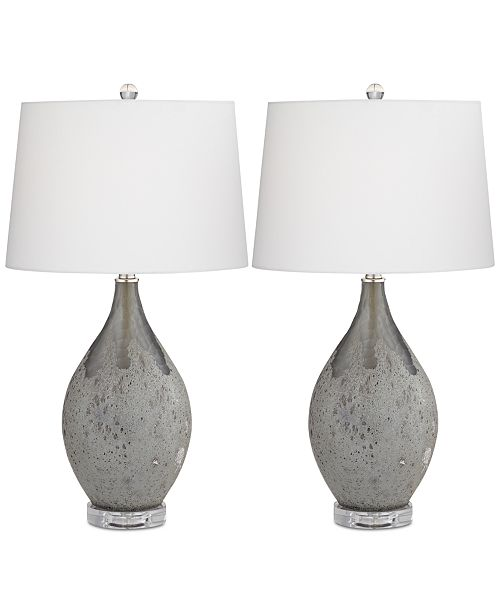 Kathy Ireland by Pacific Coast Set of 2 Volcanic Table Lamps