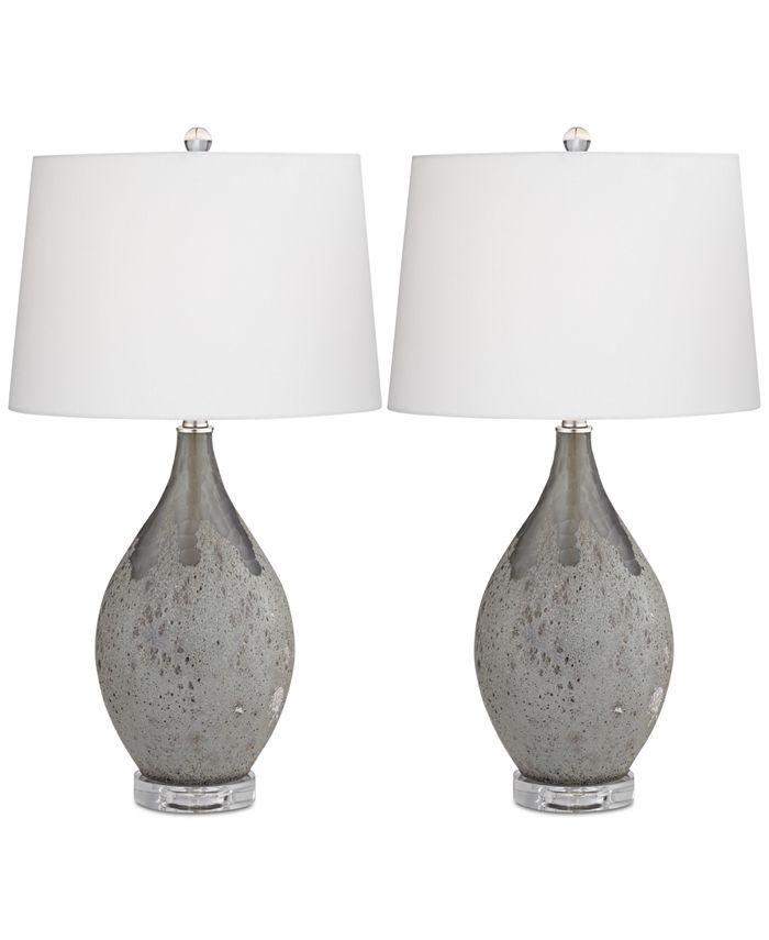Kathy Ireland - Set of 2 Volcanic Table Lamps