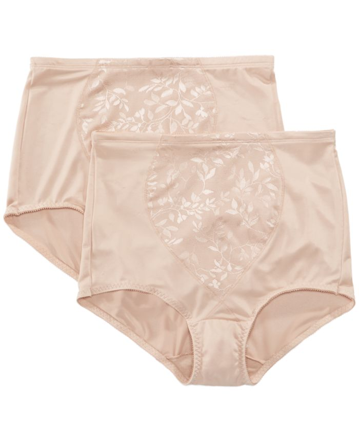 Bali Women's  Firm Control Tummy Panel 2 Pack X710 & Reviews - Bras, Panties & Lingerie - Women - Macy's