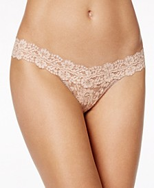 Cross-Dyed Low Rise Lace Thong 591054