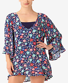 Anne Cole Plus Size Lazey Dazey Tunic Cover-Up