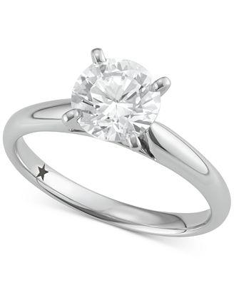 Macy S Star Signature Diamond Solitaire Engagement Ring 1 1 2 Ct