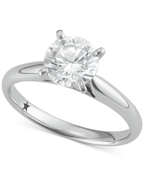 bae2e36e5967c t.w.; Macy's Star Signature Diamond Solitaire Engagement Ring (1-1/2 ct.