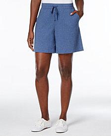 Karen Scott Petite Drawstring Knit Shorts, Created for Macy's