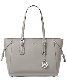 fb725505ba6c Michael Kors Voyager Medium Crossgrain Leather Tote   Reviews ...