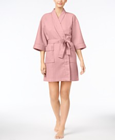 Charter Club Short Spa Waffle Robe Created For Macy S