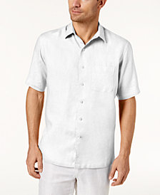 Tasso Elba Men's Island  Linen Shirt, Created for Macy's