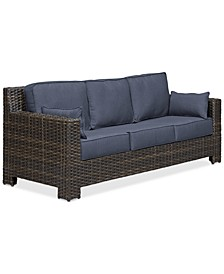 Viewport Wicker Outdoor Sofa: with Custom Sunbrella® Colors, Created for Macy's