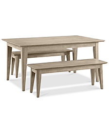 CLOSEOUT! Kips Cove Dining Furniture, 3-Pc. Set (Dining Table & 2 Benches)