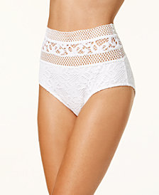 Becca High-Waist Crochet Bikini Bottoms