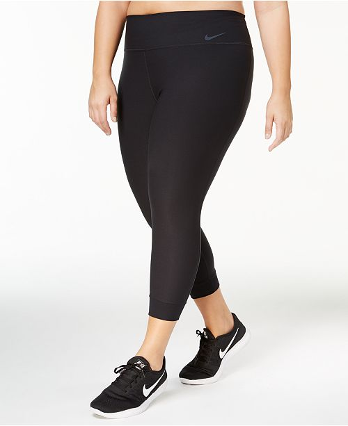 b8a74a037ea51 Nike Plus Size Power Legend Cropped Leggings & Reviews - Pants ...