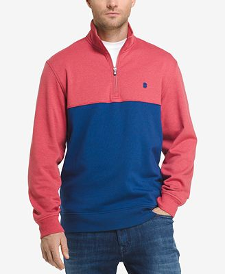IZOD Men's Soft Touch Quarter-Zip Fleece Pullover - Hoodies ...