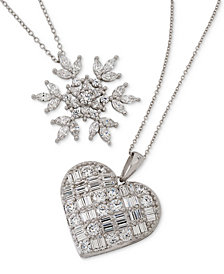 Giani Bernini Cubic Zirconia Necklace Collection in Sterling Silver, Created for Macy's
