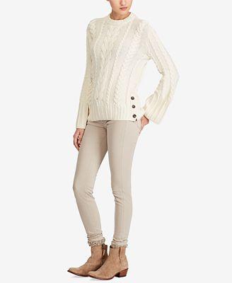Polo Ralph Lauren Aran Knit Dolman Sweater Sweaters Women Macys