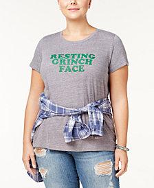Sub_Urban Riot Trendy Plus Size Grinch Graphic T-Shirt