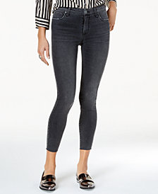 STS Blue Emma Mid Rise Raw-Hem Ankle Skinny Jeans