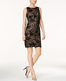 Calvin Klein Embroidered Sheath Dress