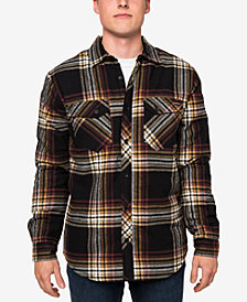 O'Neill Men's Hueneme Sherpa-Lined Plaid Flannel Shirt