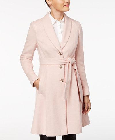 Ivanka Trump Belted Wool-Blend Walker Coat