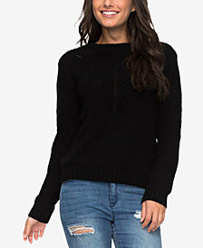 Roxy Juniors' Zip-Back Sweater