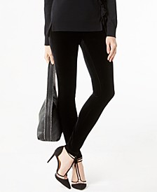 INC Petite Velvet Skinny Pants, Created for Macy's