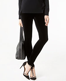 I.N.C. Petite Velvet Skinny Pants, Created for Macy's