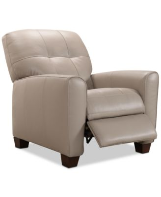 kaleb tufted leather recliner created for macyu0027s