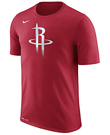 Nike Men's Houston Rockets Dri-FIT Cotton Logo T-Shirt