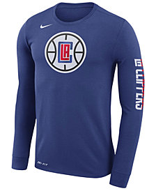 Nike Men's Los Angeles Clippers Dri-FIT Cotton Logo Long Sleeve T-Shirt