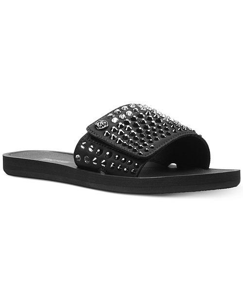 35488fa71df Michael Kors MK Pool Slide Sandals   Reviews - Sandals   Flip Flops ...